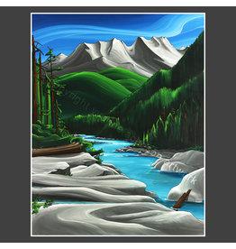 Yvonne Acheson Art Kennedy River Greeting Card