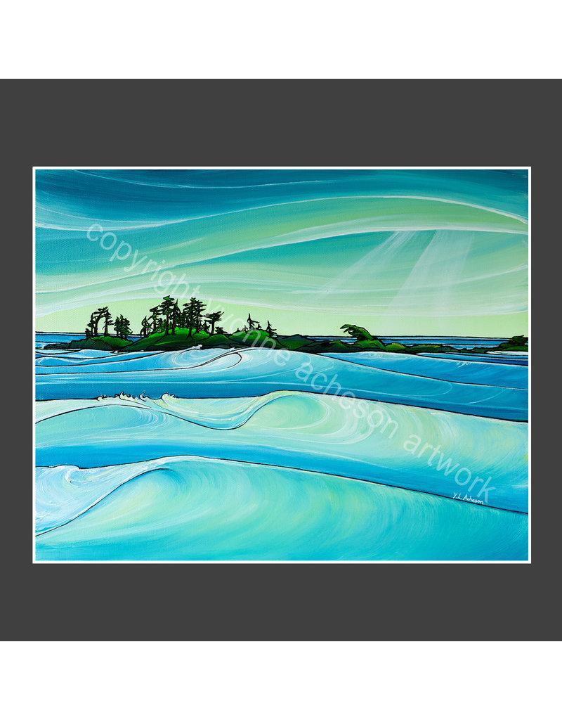 Yvonne Acheson Art Chesterman Swells Greeting Card