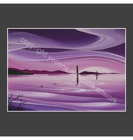 "Yvonne Acheson Art ""Lavender Light"" Greeting Card"