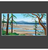 Yvonne Acheson Art Rathtrevor Beach II Large Framed Print