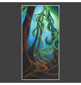 Yvonne Acheson Art Sea of Trees Large Framed Print