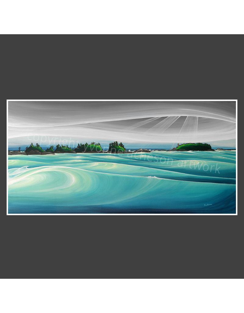 """Yvonne Acheson Art North Chesterman Beach 18""""x 36"""" Canvas Print"""