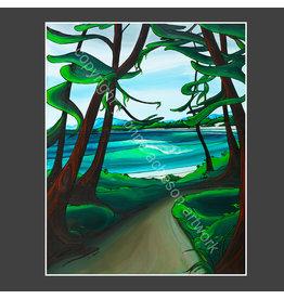 Yvonne Acheson Art Trail to Wickinnish Beach Medium Framed Print