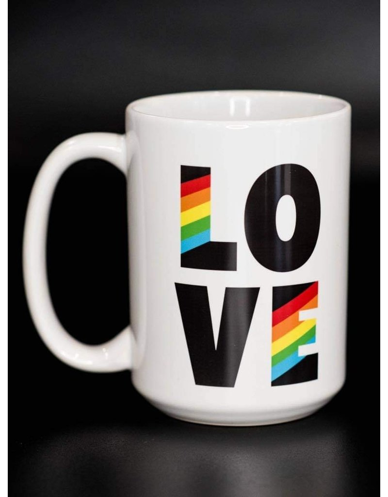 Cultured Coast Rainbow Love 15oz Mug