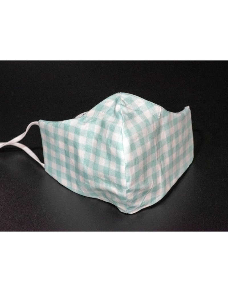 Buffy's Face Diapers Mint Plaid Adult Mask