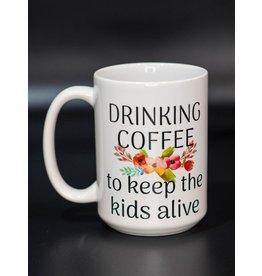 Cultured Coast Drinking coffee 15oz Mug
