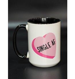 Cultured Coast Single AF Pink Heart 15oz Mug
