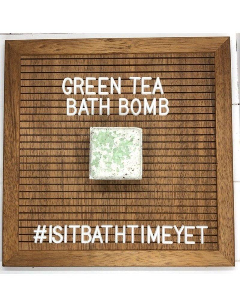 Is It Bath Time Yet? Green Tea Bath Bomb