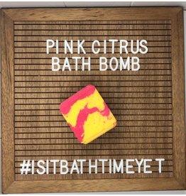 Is It Bath Time Yet? Pink Citrus Bath Bomb