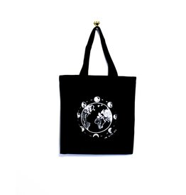 Kindred Coast With Her Reusable Canvas Tote (Black)