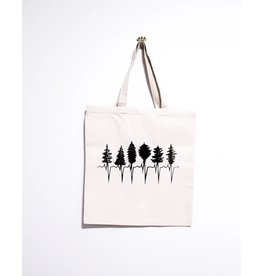 Kindred Coast Tree Line Reusable Canvas Tote (Natural)