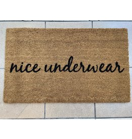 Aspen Blue Co Nice Underwear Doormat