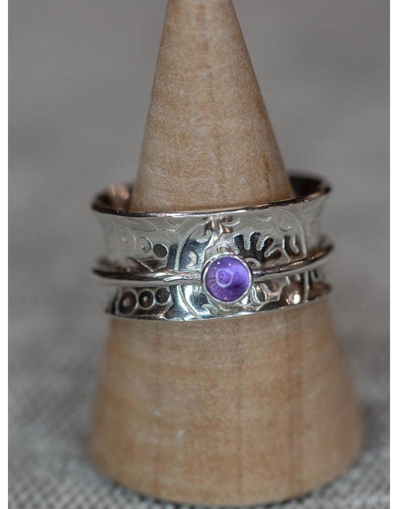 Blackbird Silversmith Spinner w/Band  Ring  #2