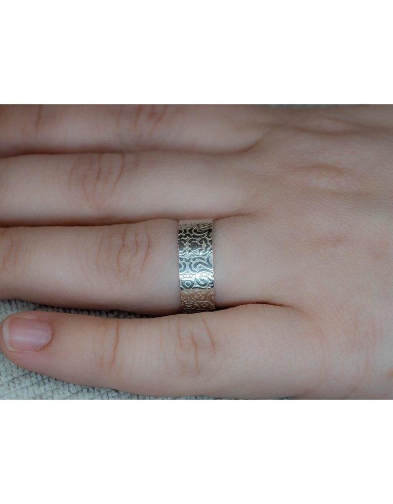 Blackbird Silversmith Plain Band Ring #9