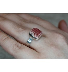 Blackbird Silversmith Rhodonite Ring #10