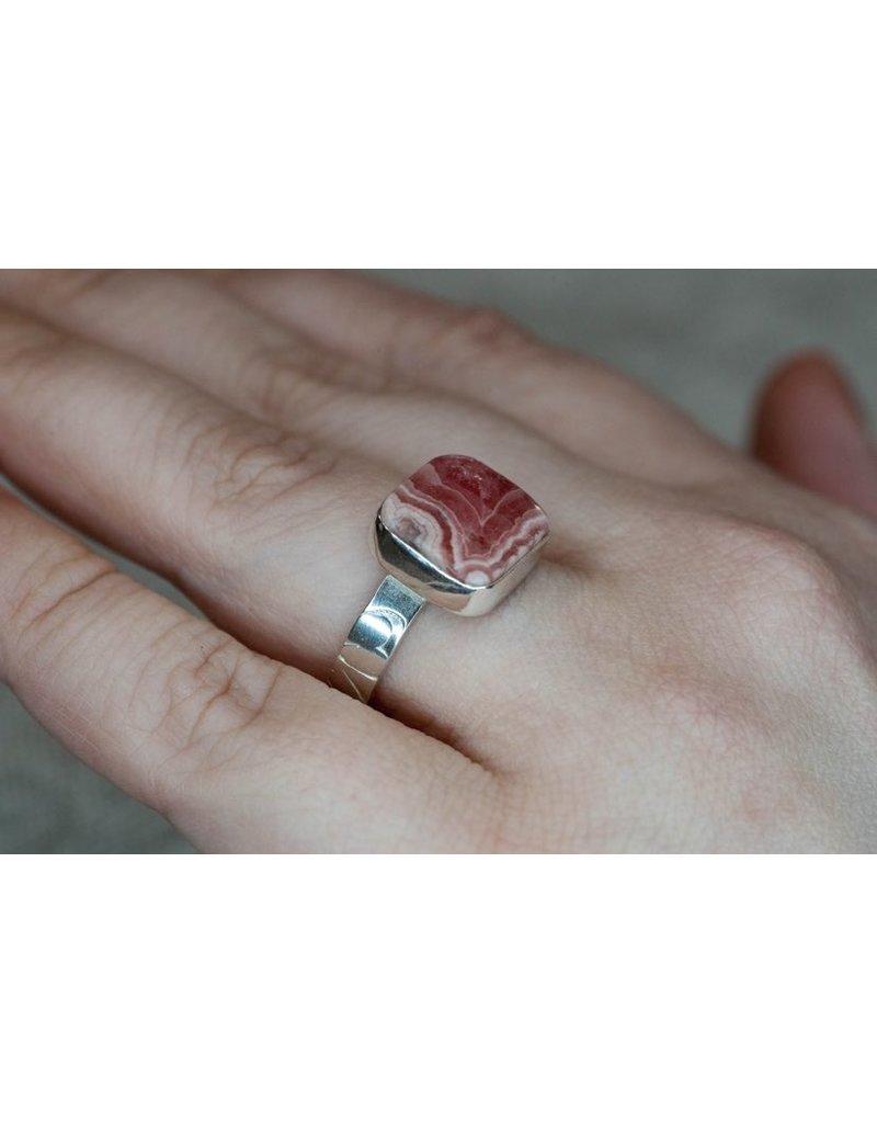 Blackbird Silversmith Rhodonite Ring #10
