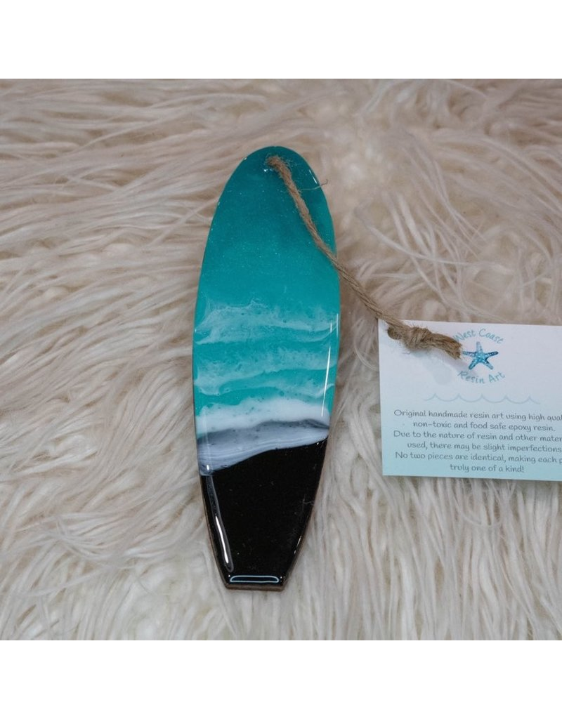 West Coast Resin Art Mini Surfboard- 4