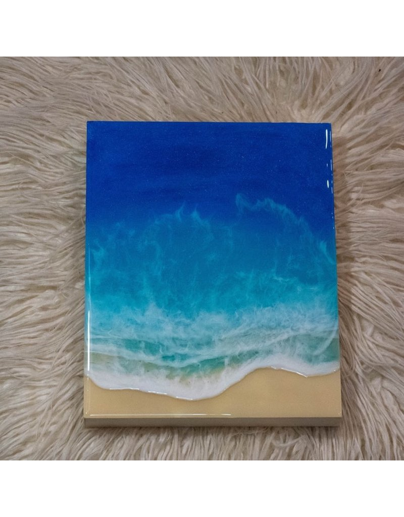 "West Coast Resin Art Ocean Wall Art 8""x10"""