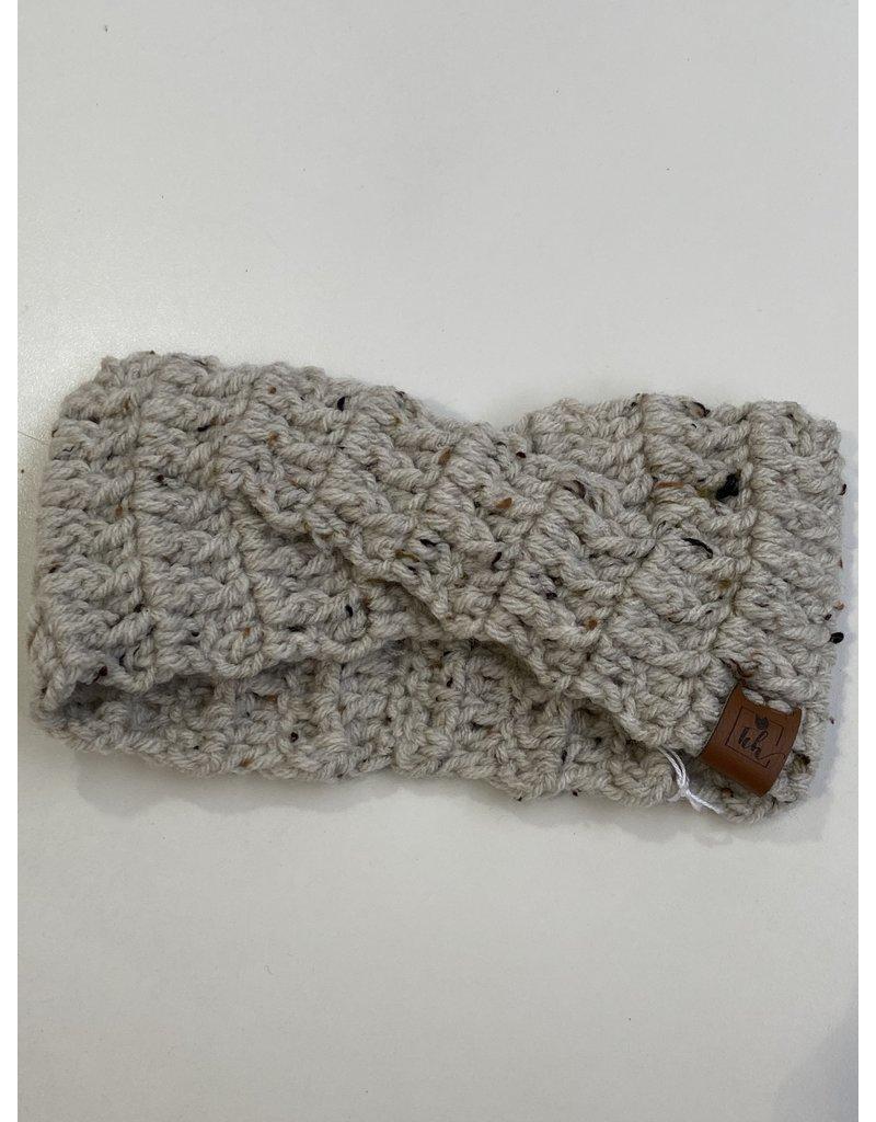 Tillys Cozy Hooks Crossover Earwarmer- Oatmeal Tweed