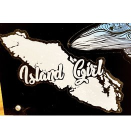 Cultured Coast Island Girl Decal