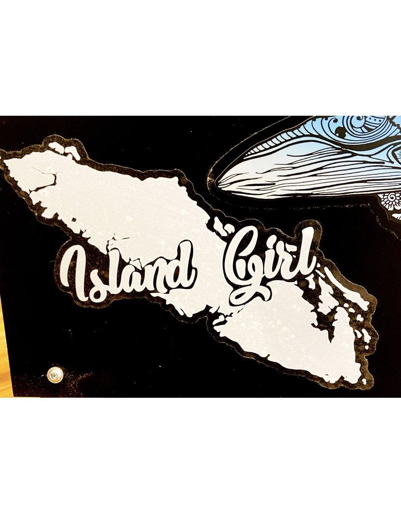 Cultured Coast Island Girl Decal