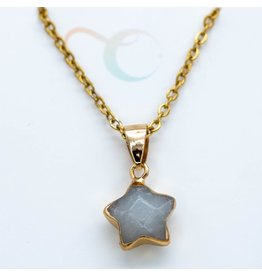 Over the Moon Jewelry Star Quartz Necklace