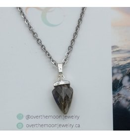 Over the Moon Jewelry Arrowhead Necklace