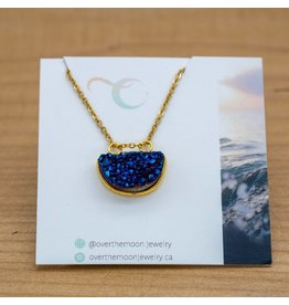 Over the Moon Jewelry Midnight Druzy Necklace