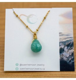 Over the Moon Jewelry Alpen Gem Drop Necklace
