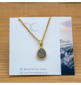 Over the Moon Jewelry Druzy Teardrop Necklace