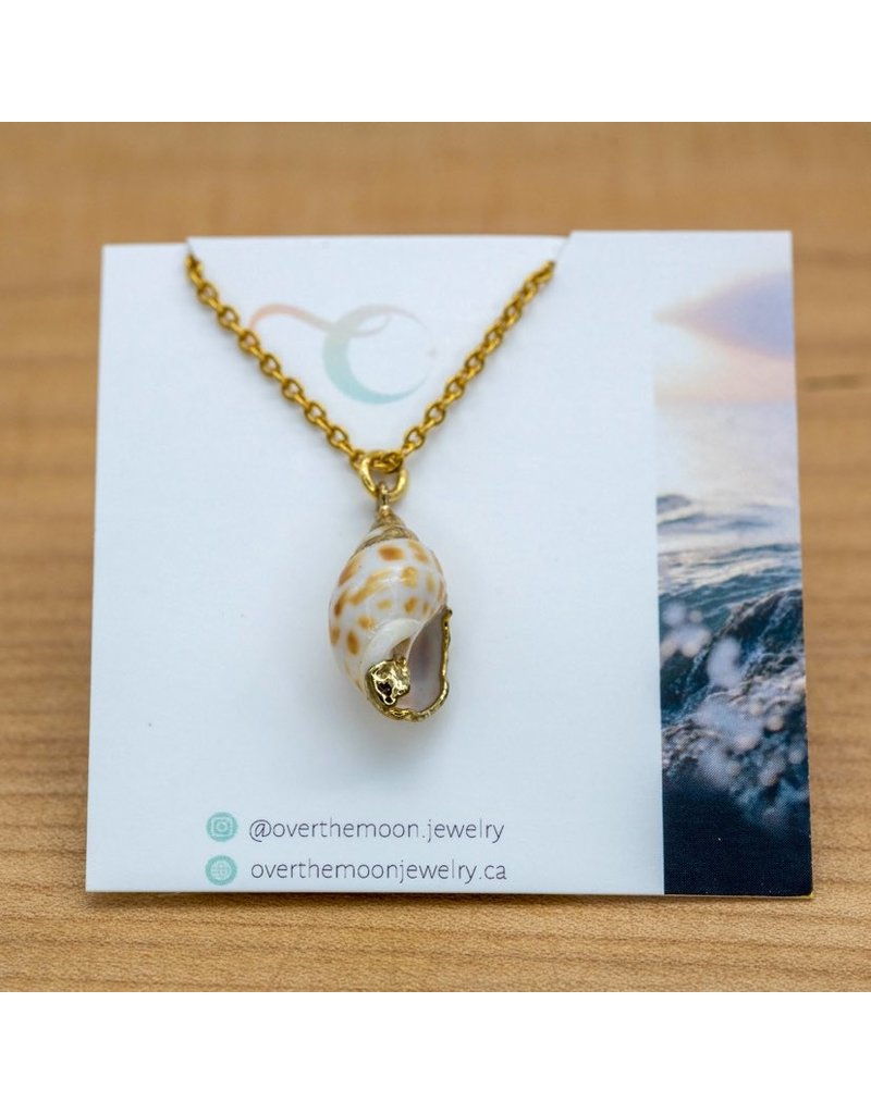 Over the Moon Jewelry Seashell Necklace