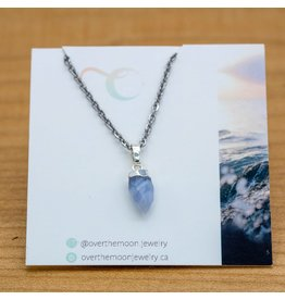 Over the Moon Jewelry Crystal Gem Pendant