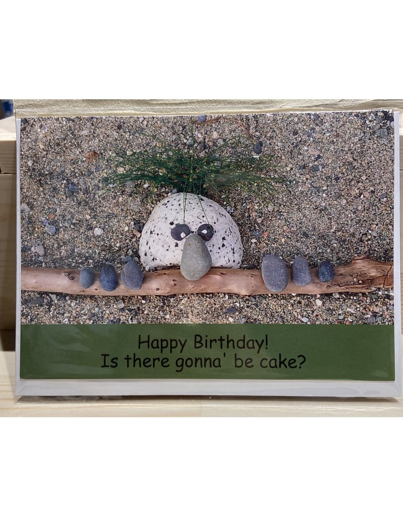 Nature Rocks Greeting Cards Is There Gonna be Cake?