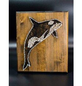 Cultured Coast Orca String Art