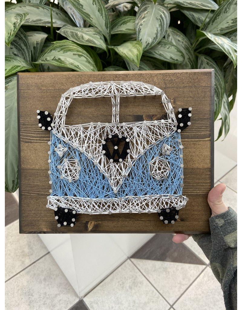 Cultured Coast VW Van String Art