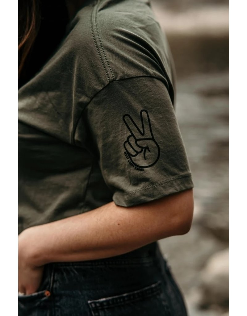 West Coast Karma Teach Peace Crop Tee
