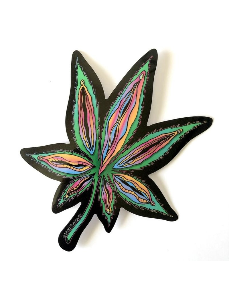 MELI.THELOVER Yoni Weed Leaf Sticker