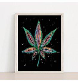 MELI.THELOVER Vagina Marijuana Pot Leaf Print