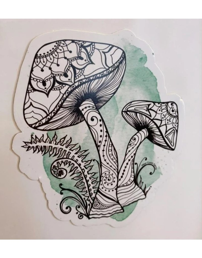 West Coast Karma Watercolor Mushroom Magnet