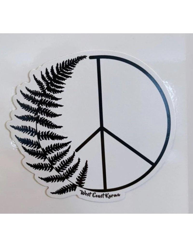 West Coast Karma Fern Peace Magnet