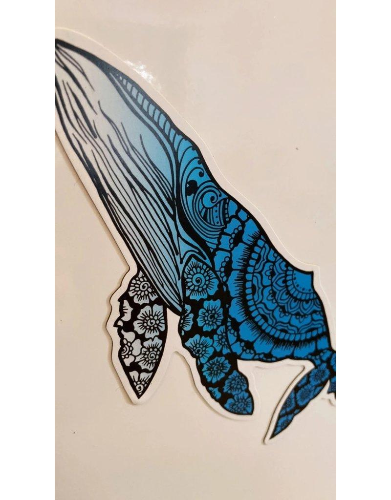 West Coast Karma Ombre Humpback Whale Magnet