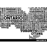 Damon D Chan Map Designs Canada City Map Print