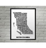 Damon D Chan Map Designs BC City Map Print