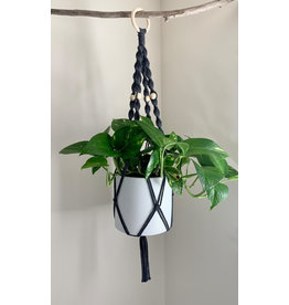 Nordick Knots Twisted Plant Hanger- Charcoal