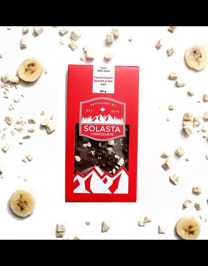 Solasta Peanut Butter Banana & Sea Salt 55% Dark Chocolate
