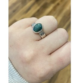 Blackbird Silversmith Emerald Ring #11