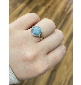 Blackbird Silversmith Larimar Ring #12