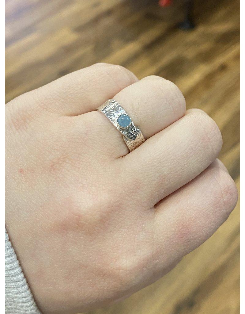 Blackbird Silversmith Aquamarine Ring #17