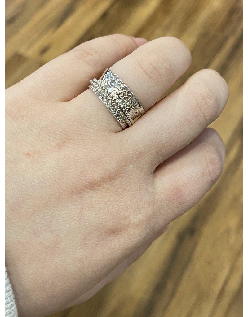 Blackbird Silversmith Spinner Ring #18