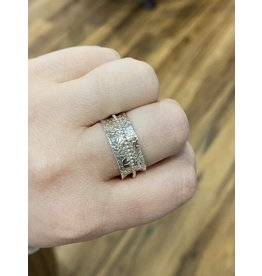 Blackbird Silversmith Spinner Ring #19